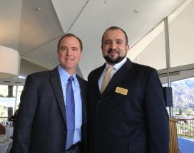 Congressman Adam Schiff and CV Chamber President Leonard Ghazarian.