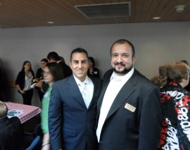 Assemblyman Mike Gatto and CV Chamber President Leonard Ghazarian