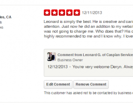 Focus on the positive reviews on YELP!