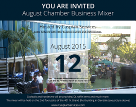 August Business Mixer Hosted by Caspian Services