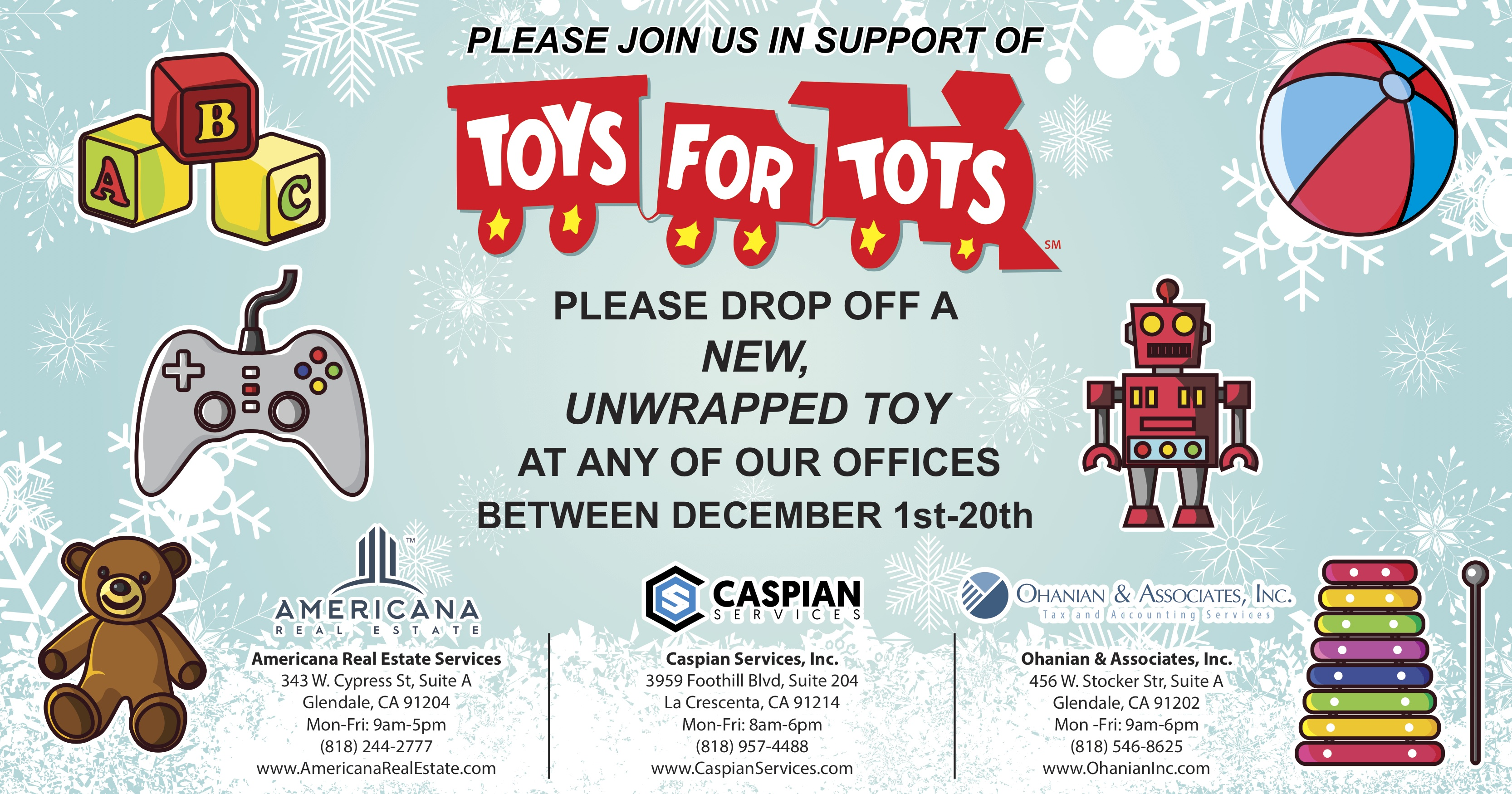 Toys For Tots 2017 Application : Toys for tots holiday season caspian services inc